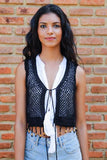 Crochet Bolero - Black - Fashion Market.LK