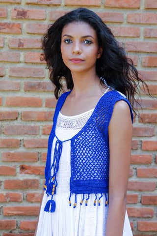 Crochet Bolero - Royal Blue