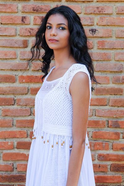Crochet Bolero - White - Fashion Market.LK