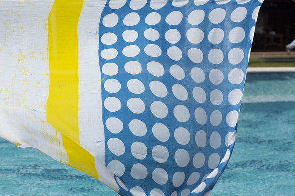 Beach Wrap - Polka Dots/ Yellow Stripes