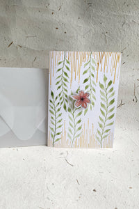 Hand Painted Spring Blossom Card