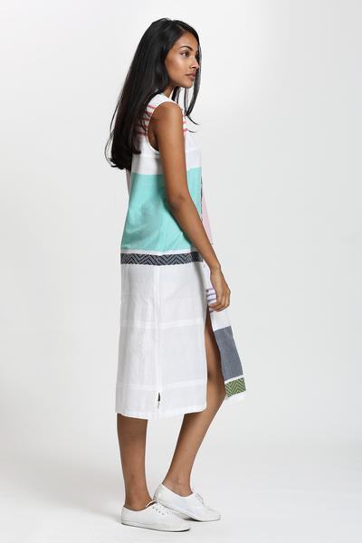 Designer Hand Woven Shirt Dress - Fashion Market.LK