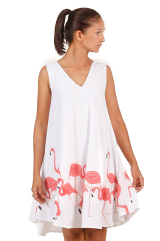 Bird cloud print shift dress