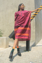 Load image into Gallery viewer, Paradise Dew Striped Contrast Kaftan