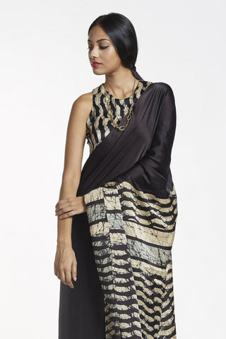 Urban Drape Glam 3 Batik Silk Saree - Shipping From 23rd July