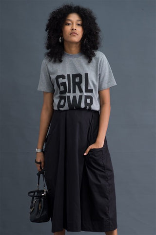 Girl Power grey T-shirt