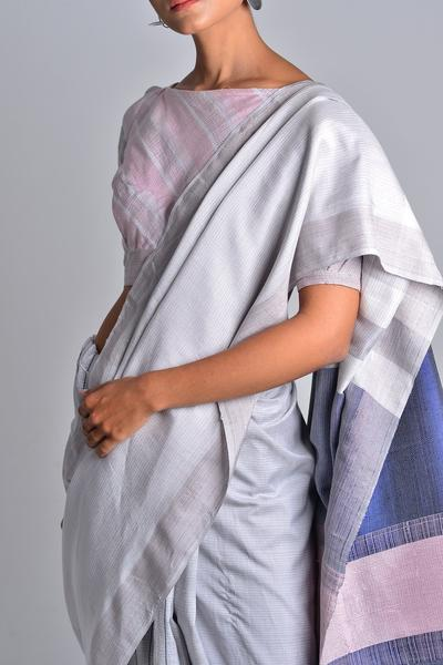 Urban Drape Grey Clouds Saree