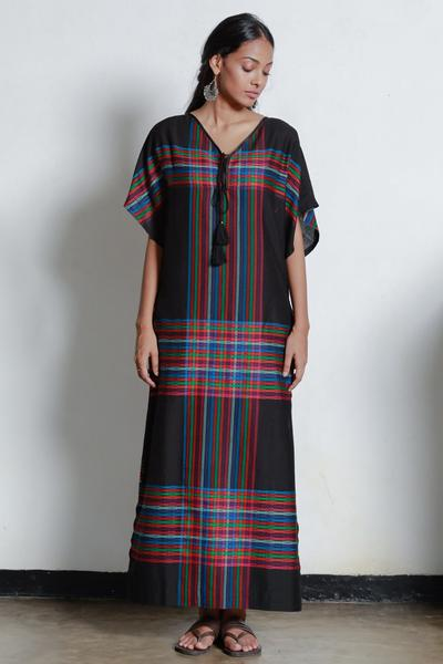 Hand Woven Striped Kaftan - Fashion Market.LK