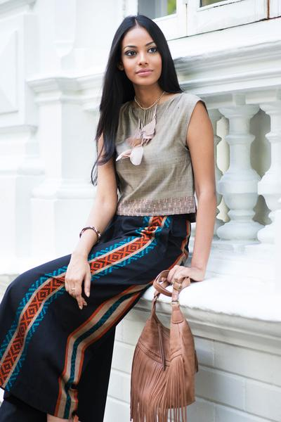 Hand Woven Wide Leg Pant - Fashion Market.LK