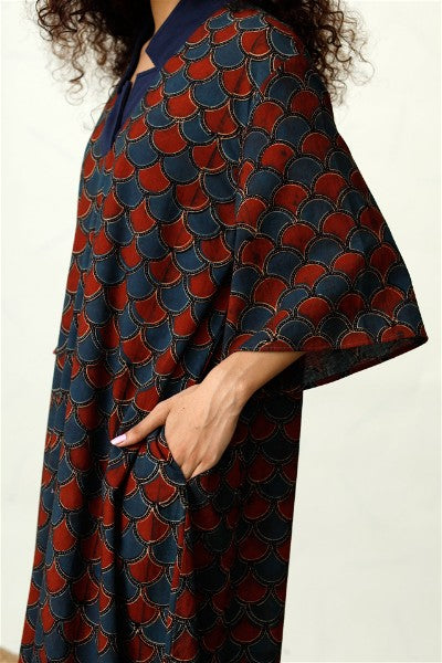 Happy-go-lucky in Block Print Dress