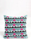 Multi colour handwoven cushion cover