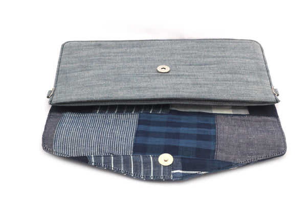 Up-Cyled Clutch- Denim