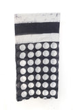 Batik Beach Wrap - Polka Dots/ Black & White