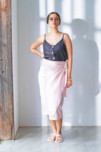 Load image into Gallery viewer, MENDES CEYLON - Pink Si Wrap Skirt