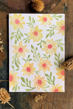 Load image into Gallery viewer, Hand Painted Yellow Daisy Card