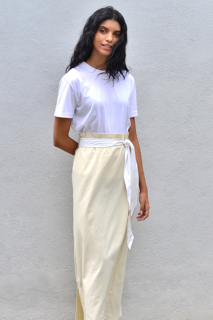 Long Skirt with pleated waist band - Fashion Market.LK