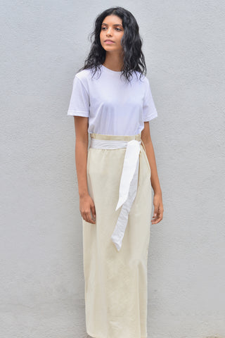 Long Skirt with pleated waist band