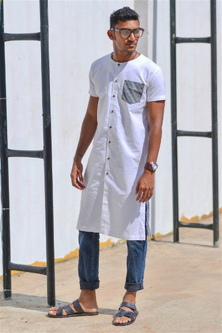 Long Tunic With Denimish Pocket V1