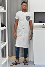 Load image into Gallery viewer, Long Tunic With Denimish Pocket V1