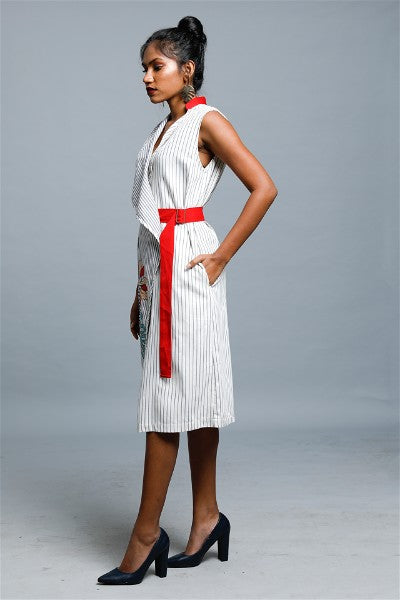Maccor Striped Trench Dress