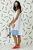 Mad Hatter White Strap Dress