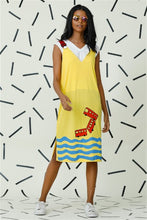 Load image into Gallery viewer, Mad Hatter Yellow Strap Dress