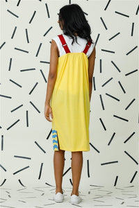 Mad Hatter Yellow Strap Dress