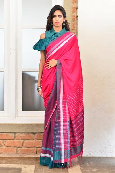 Urban Drape Majestic Pink Saree - Fashion Market.LK
