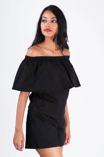 Mare Off  Shoulder Crop Top - Fashion Market.LK