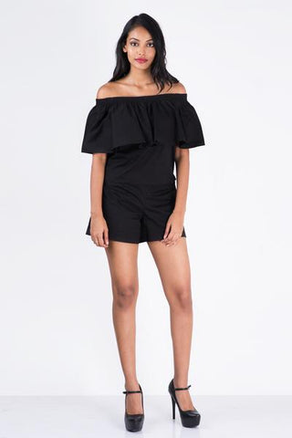 Mare Off  Shoulder Crop Top