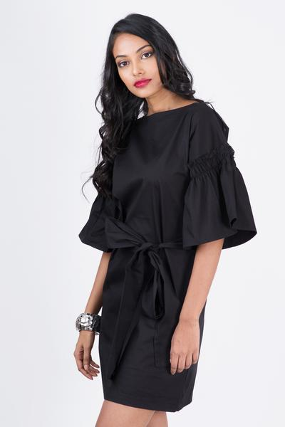 Mare  Puffed Sleeve Dress - Fashion Market.LK
