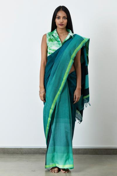 Urban Drape Moss Ray Saree