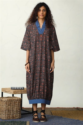 Native Beacon in Block Print Dress