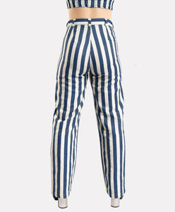Striped Chambray Trousers
