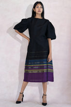 Load image into Gallery viewer, Handloom Festive Midi Dress