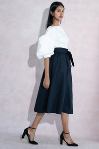 Black Belle Midi Skirt