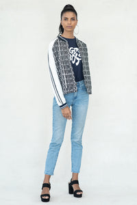 Empower  Statment Printed Open Bomber Jacket