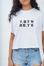 Load image into Gallery viewer, White SL Latitude Crop T-Shirt