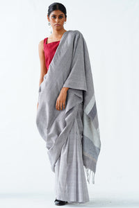 Urban Drape White Riot saree