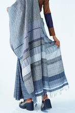 Load image into Gallery viewer, Urban Drape Blackwater saree