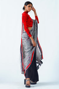Urban Drape smokey rose saree