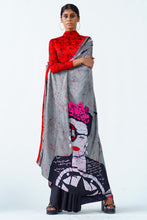 Load image into Gallery viewer, Urban Drape smokey rose saree