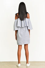 Load image into Gallery viewer, Off-Shoulder Dress -Stripe - Fashion Market.LK