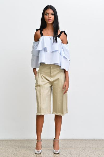 Off-Shoulder Top- Stripe - Fashion Market.LK