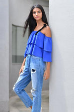 Load image into Gallery viewer, Off-Shoulder Top - Blue - Fashion Market.LK