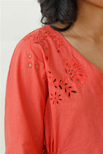 Load image into Gallery viewer, On Cloud 9 Embroidered Puff Sleeve Top V3