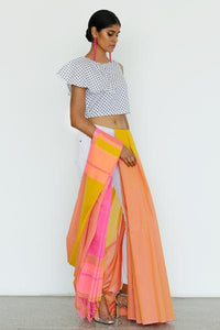 One-shoulder Ruffle Crop blouse - Fashion Market.LK