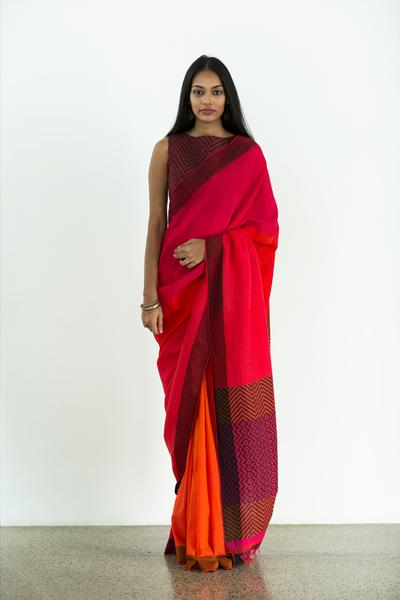 Urban Drape Pink Glow Saree - Fashion Market.LK