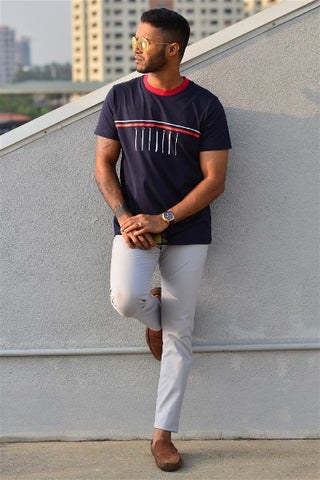 Preppy Colombo Blue Tee