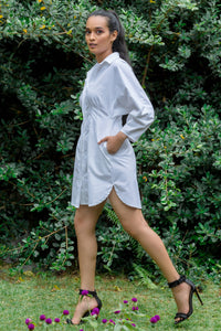 Rapt White Shirt Dress
